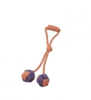 BUDZ Dog Toy Rope Double Monkey Fist-Orange ET MAUVE 15''