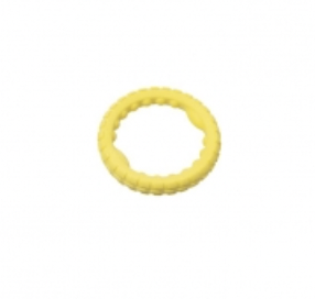 Budz Dog Toy Rubber Ring Foam Yellow
