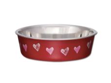 Bella Bowl Valentine Hearts Red X-Small
