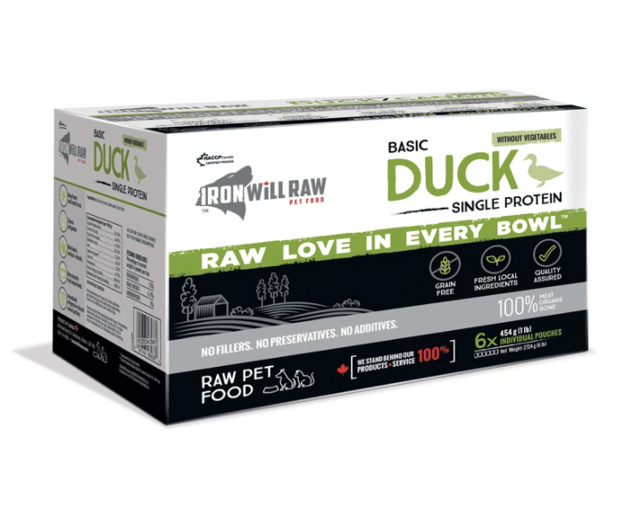 Iron Will Raw Basic Duck (6 x 1lb)