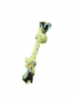 BUDZ Dog Toy Rope w/ 2 Knots Green and Yellow 8.5''
