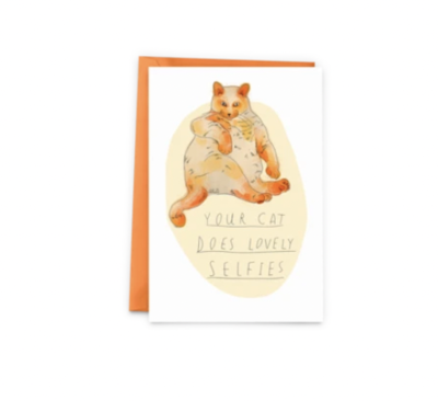 Selfie Cat Greeting Card