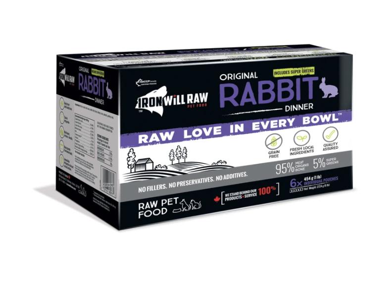 Iron Will Raw Rabbit Dinner (6 x 1lb)