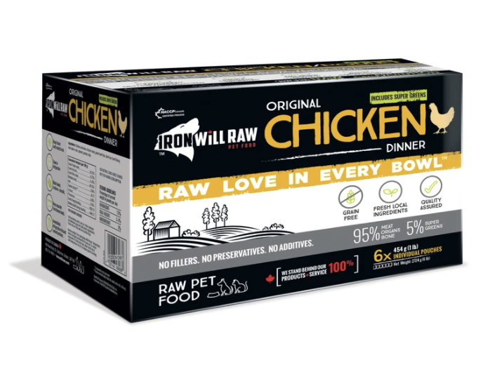 Iron Will Raw Chicken Dinner (6 x 1lb)