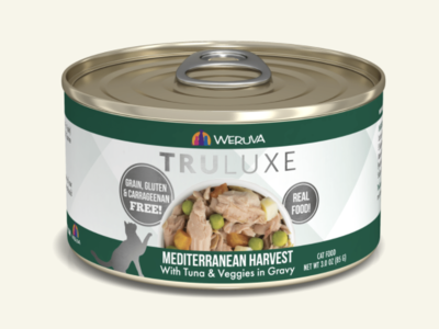 TruLuxe Cat Mediterranean Harvest Tuna & Veg in Gravy 3oz