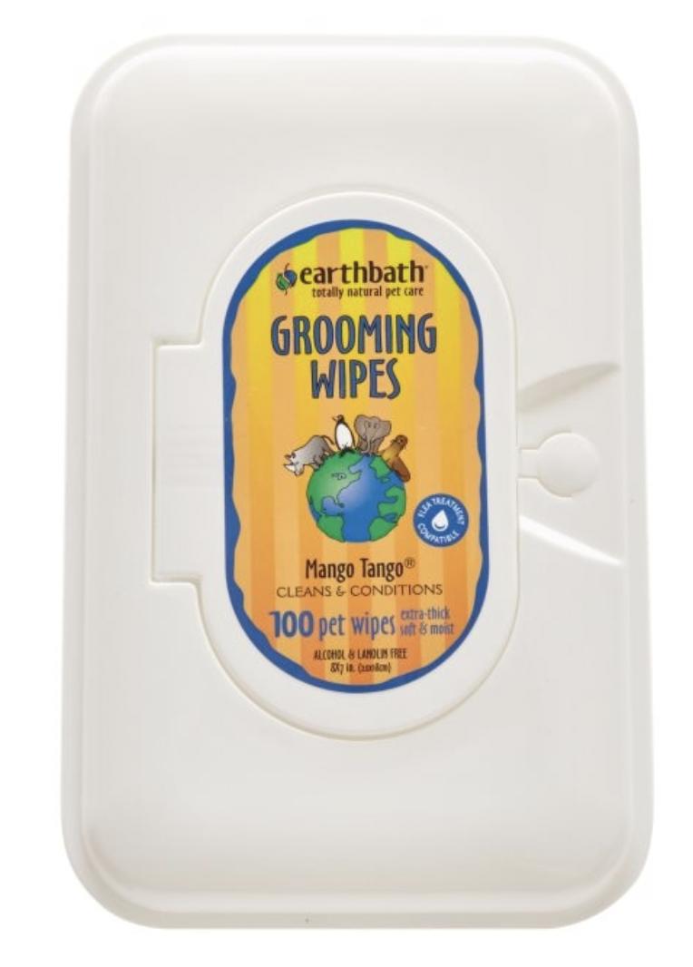 EarthBath Mango Tango Grooming Wipes 100 Ct