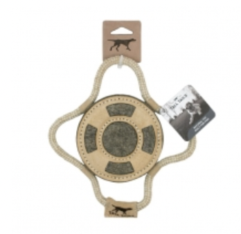 """Tall Tails 9"""" Natural Leather & Wool Lifebuoy"""