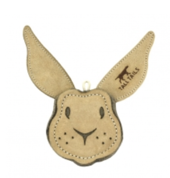 """Tall Tails 4"""" RABBIT Natural Leather Dog Toy"""
