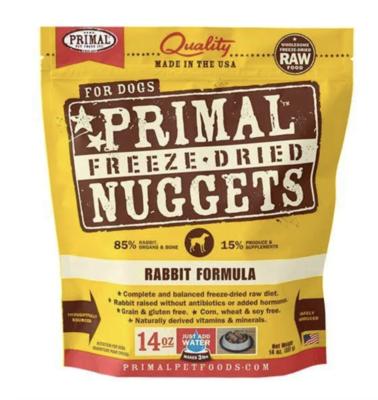 Primal Freeze Dried Rabbit  14.0oz