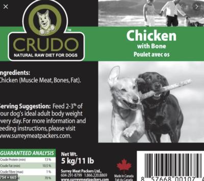 Crudo Chicken W/Bone 11 lb