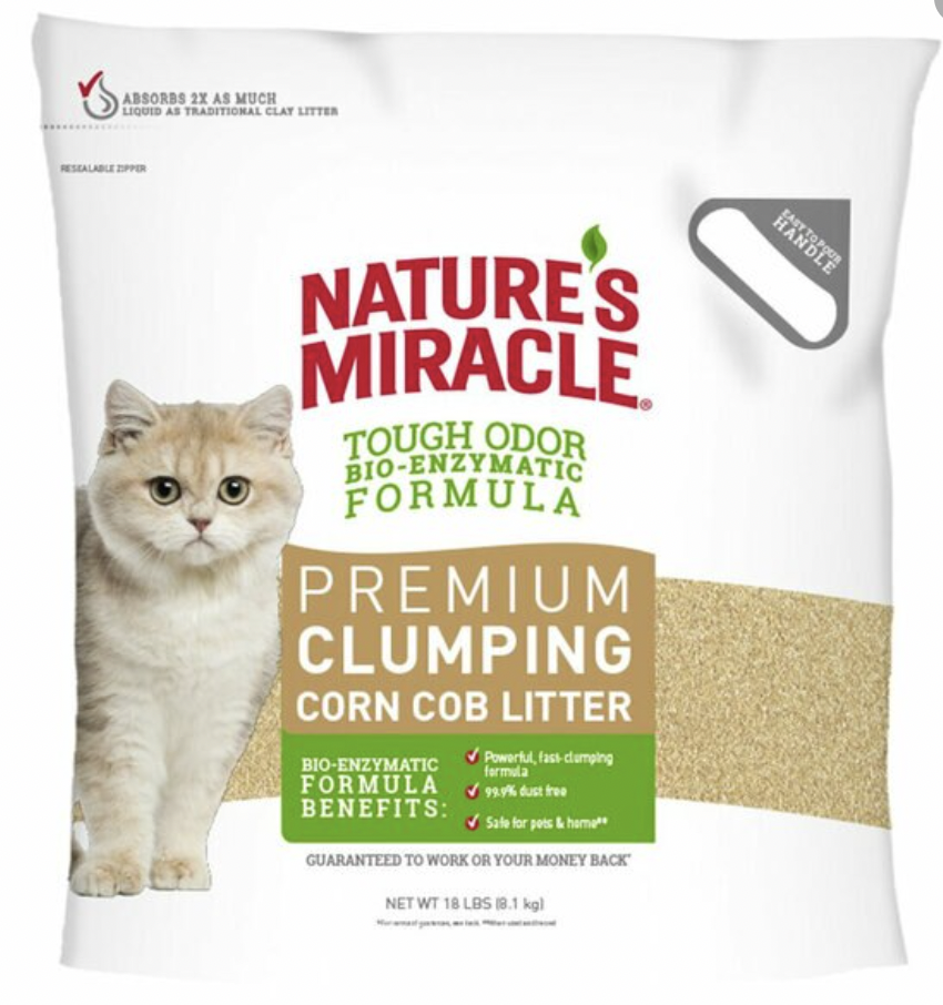 NM Premium Clumping Corn Litter 18lbs