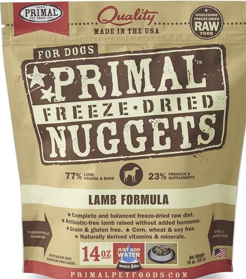 Primal Canine Freeze-Dried Lamb 14oz