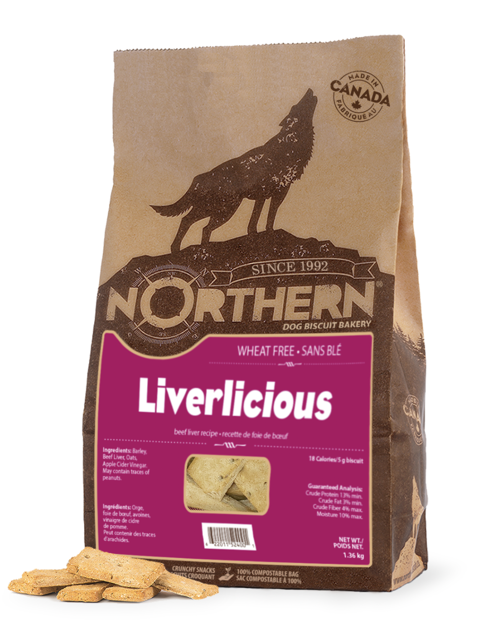 Northern Biscuits Wheat Free Liverlicious 500g