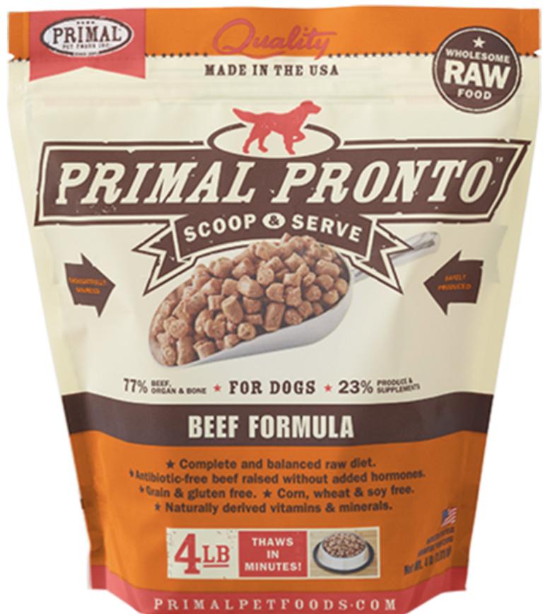 Primal Canine Raw Pronto Beef 12oz