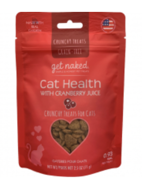 Get Naked Cat Health w/ Cranberry Juice Crunchy 2.5oz