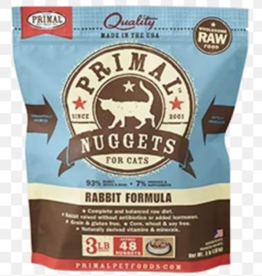 Primal Feline Raw Nuggets Rabbit 3lb