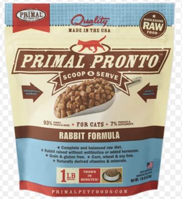 Primal Feline Raw Pronto Rabbit 1lb