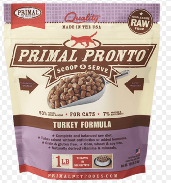 Primal Feline Raw Pronto Turkey 1lb