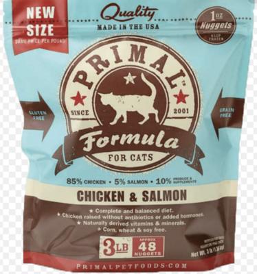 Primal Feline Raw Nuggets Chicken & Salmon 3lb