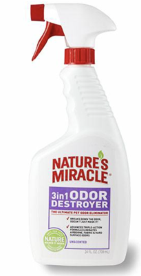 Natures Miracle 3-in-1 Odor Destroyer Unscented 24oz / 709ml