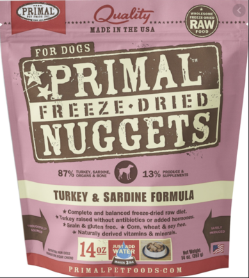 Primal Canine Freeze-Dried Turkey & Sardine 5.5oz