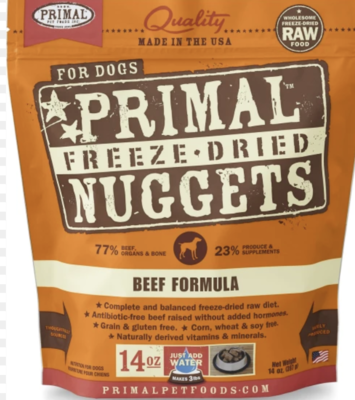 Primal Canine Freeze-Dried Beef 5.5oz