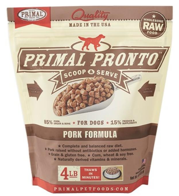 Primal Canine Raw Pronto Pork 4lb