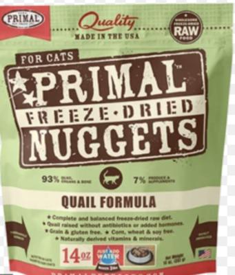Primal Feline Raw Nuggets Quail 3lb