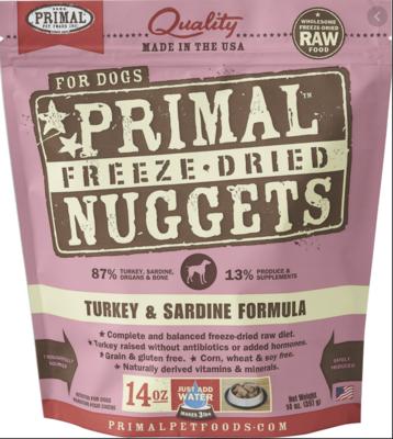 Primal Canine Freeze-Dried Turkey & Sardine 14oz