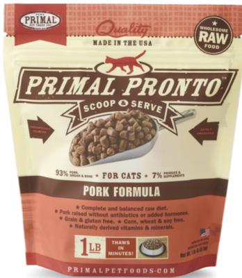 Primal Feline Raw Pronto Pork 1lb