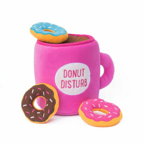 ZippyPaws Burrow Squeaker Toy Coffee and Donutz