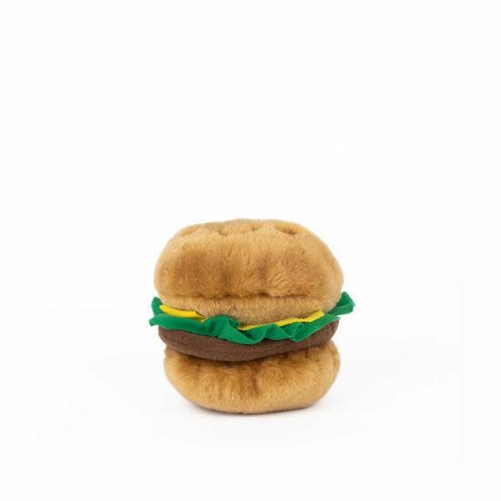 ZippyPaws NomNomz Squeaker Toy Hamburger
