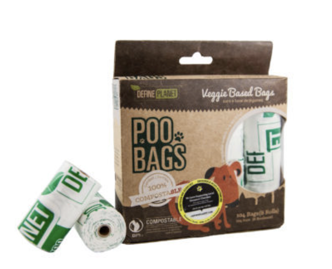 DefinePlanet POO BAGS Veggie(Compostable) 8 PK (104ct)