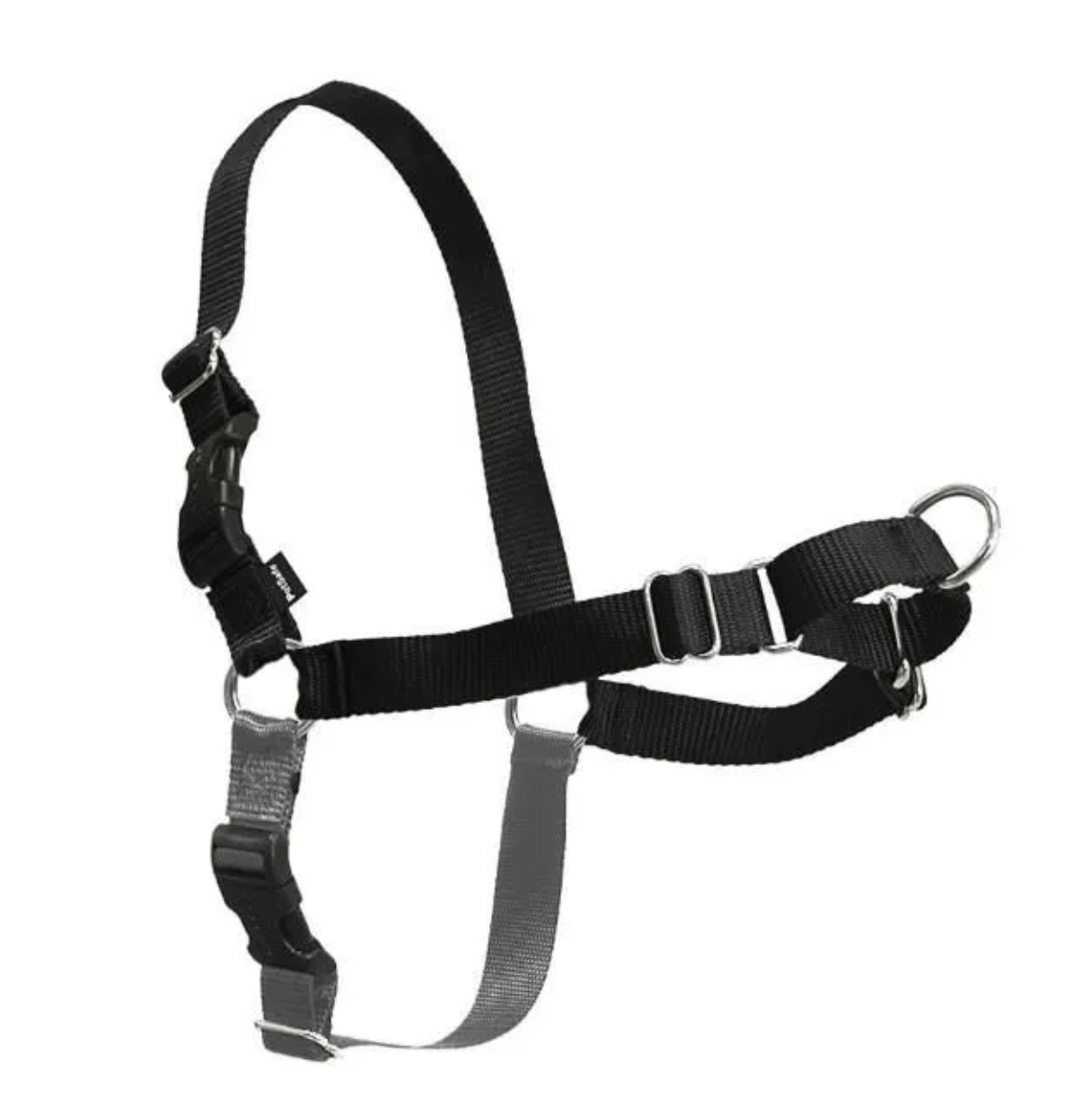 Easy Walk Harness w/ Leash Black Large