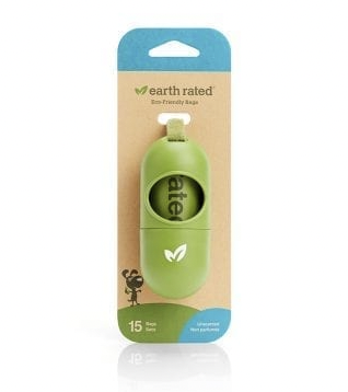 Earth Rated 15pc Unscented Poop Bag Roll and Holder