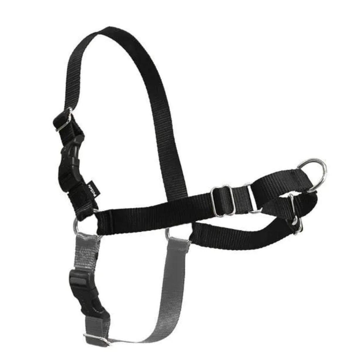 Easy Walk Harness w/ Leash Black Medium