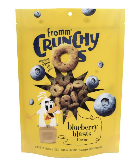Fromm Dog Crunchy Os GF Blueberry Blasts Treats 6 oz