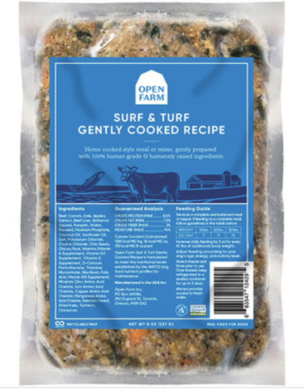 Open Farm Dog Gently Cooked Surf & Turf 8 oz