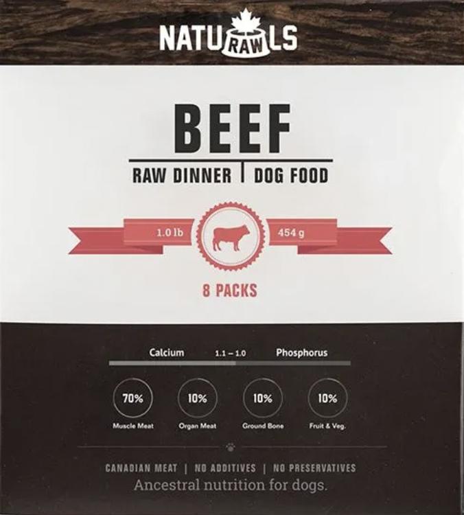 Naturawls Beef & Veg Dinner 8lb Box (8 x 454g)