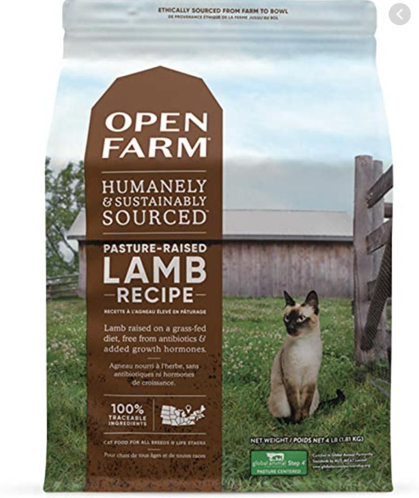 Open Farm Cat Pasture Raised Lamb 4lb