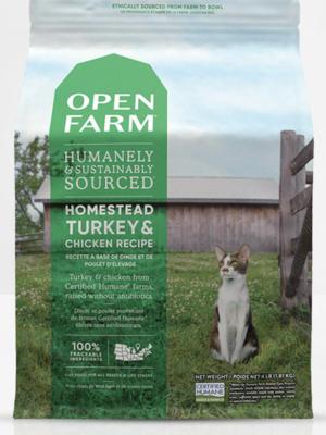 Open Farm Cat Homestead Turkey and Chicken 4lb