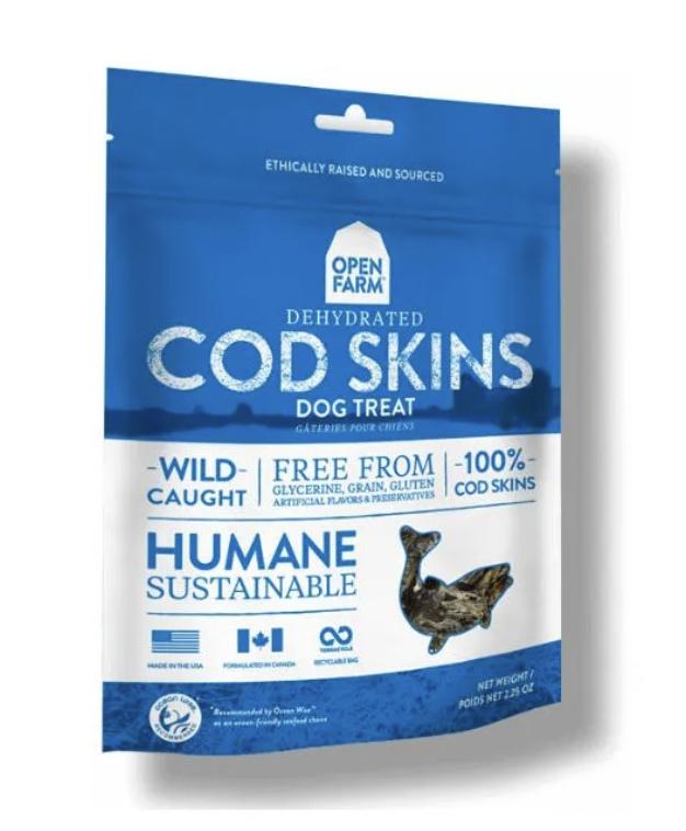 Open Farm Dog Dehydrated Cod Skins Treats 2.25oz