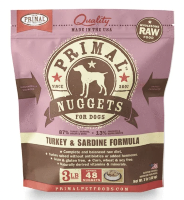 Primal Canine Raw Nuggets Turkey & Sardine 6lb