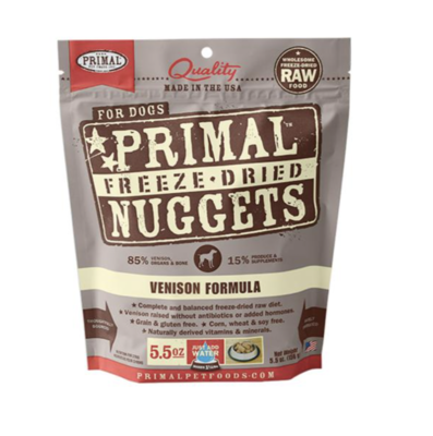Primal Canine Freeze-Dried Venison Nuggets 5.5oz
