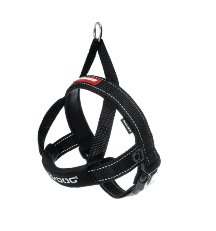 EzyDog Quick Fit Harness Black Extra Large