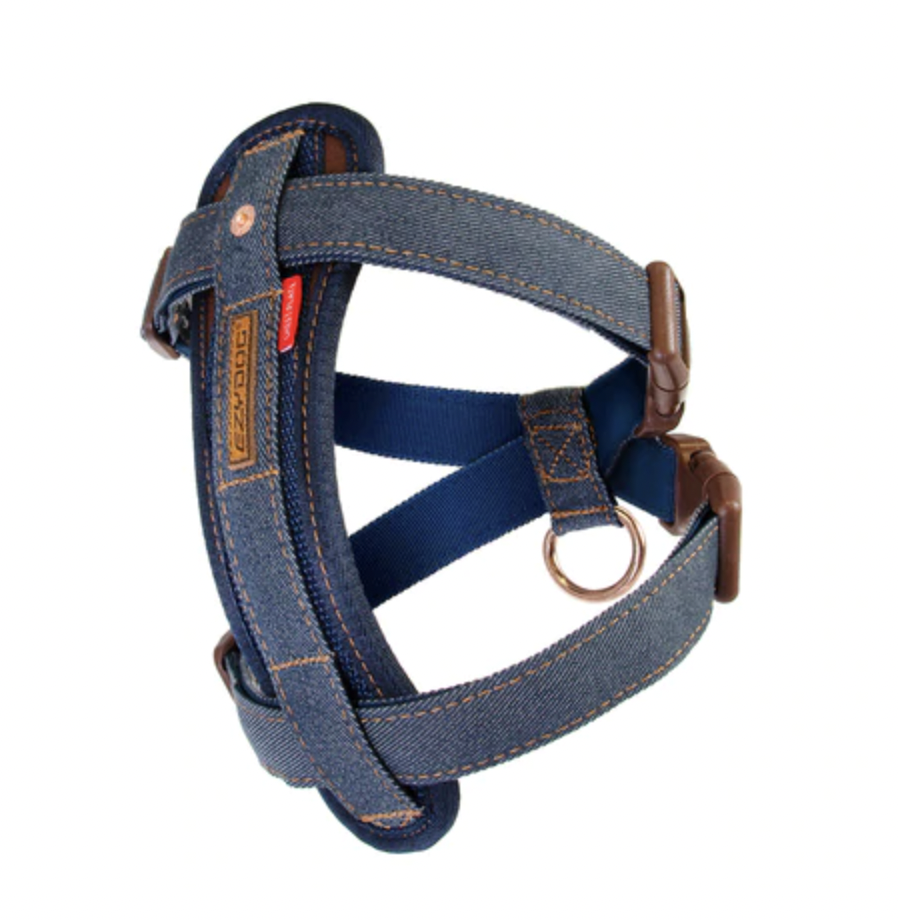 EzyDog Chest Plate Harness Denim Small