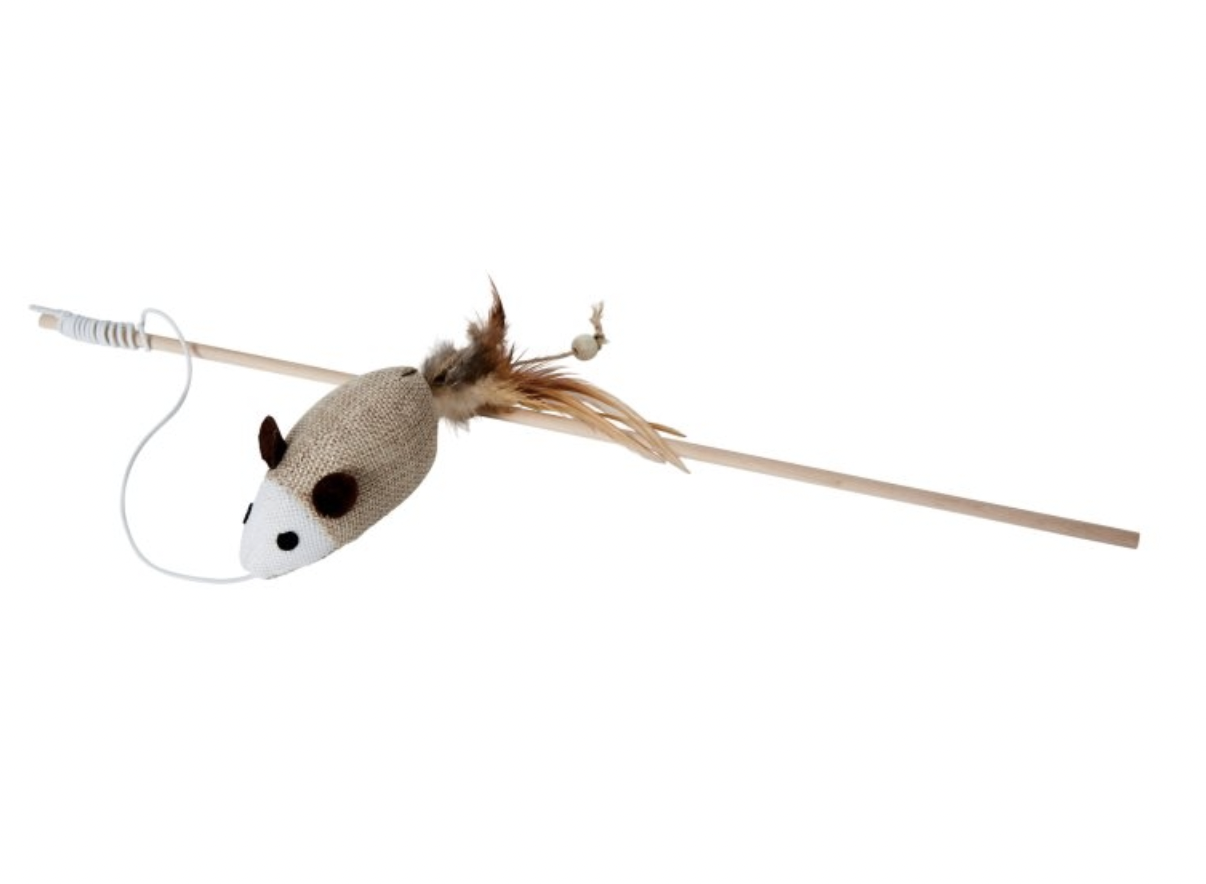 BUDZ Cat Toy Swing Stick Mouse