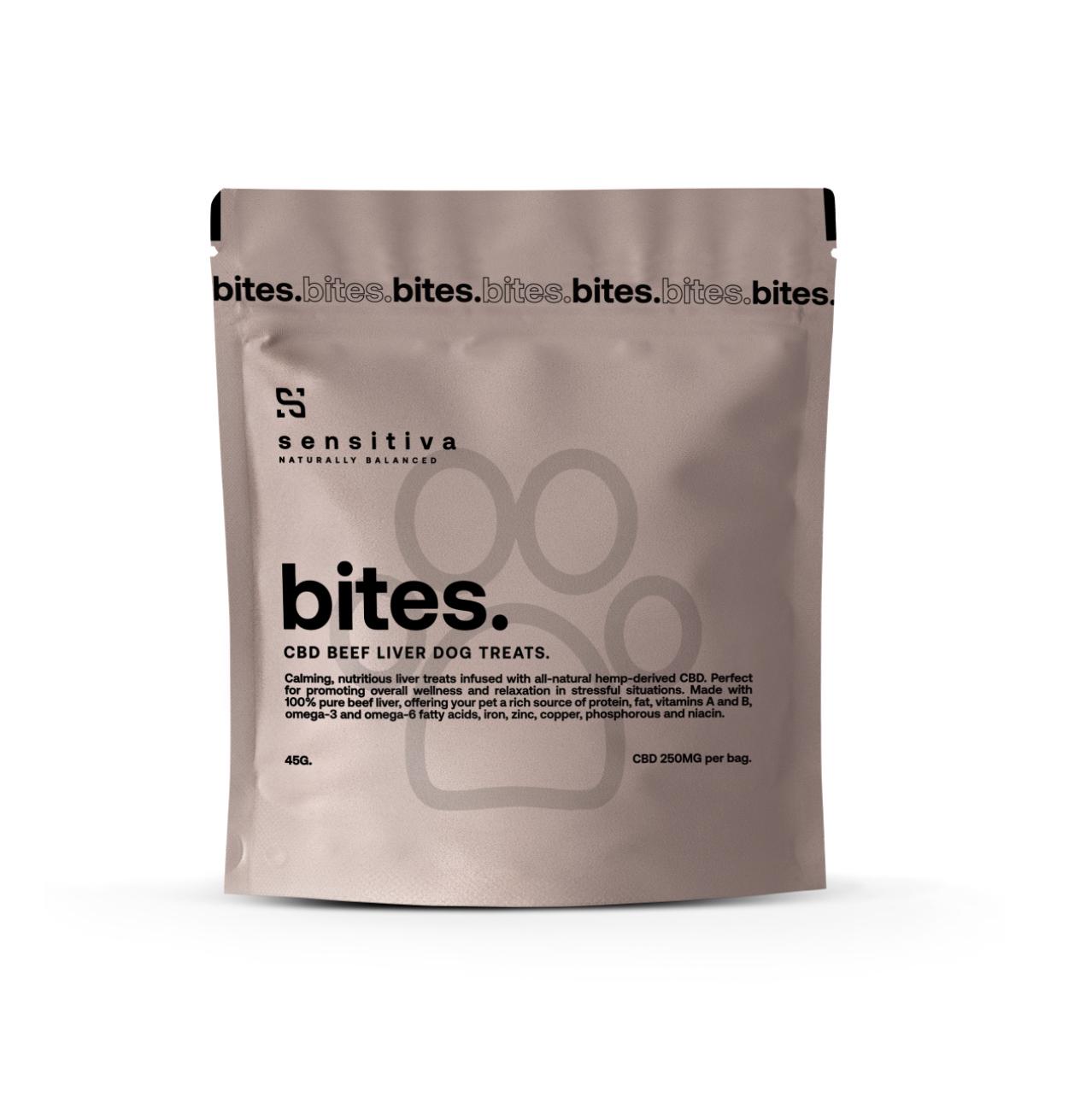 Sensativa Beef Liver Bites 250 mg