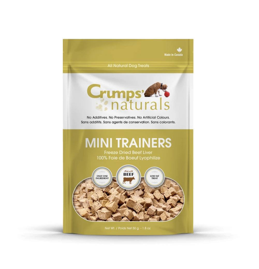 Crumps Naturals Dog Mini Trainers Freeze Dried Beef 1.8oz