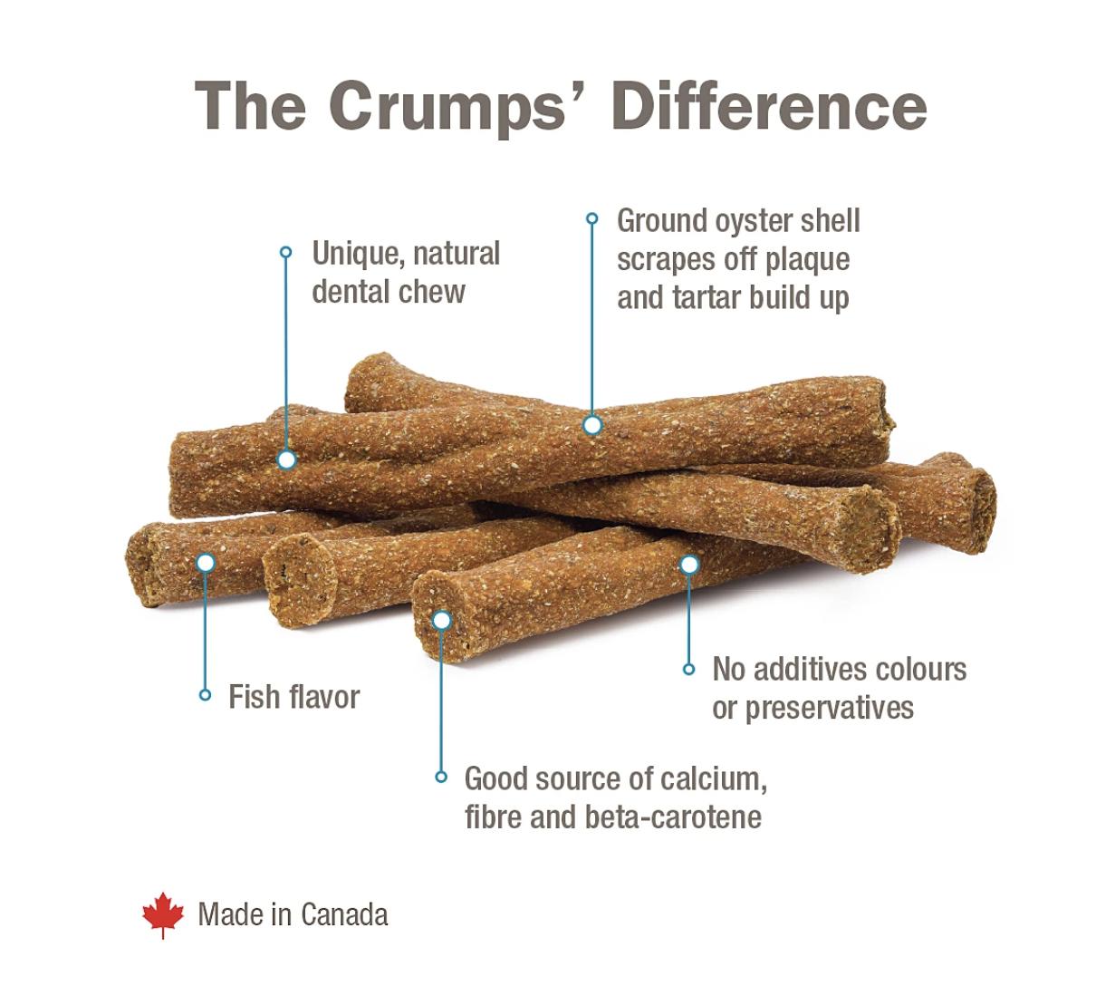 Crumps' Naturals Dog Plaque Busters Fisherman's Bulk